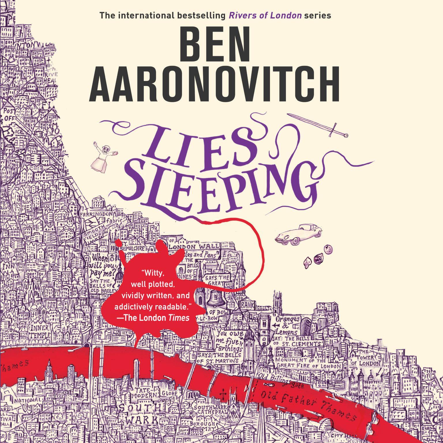 Printable Lies Sleeping Audiobook Cover Art