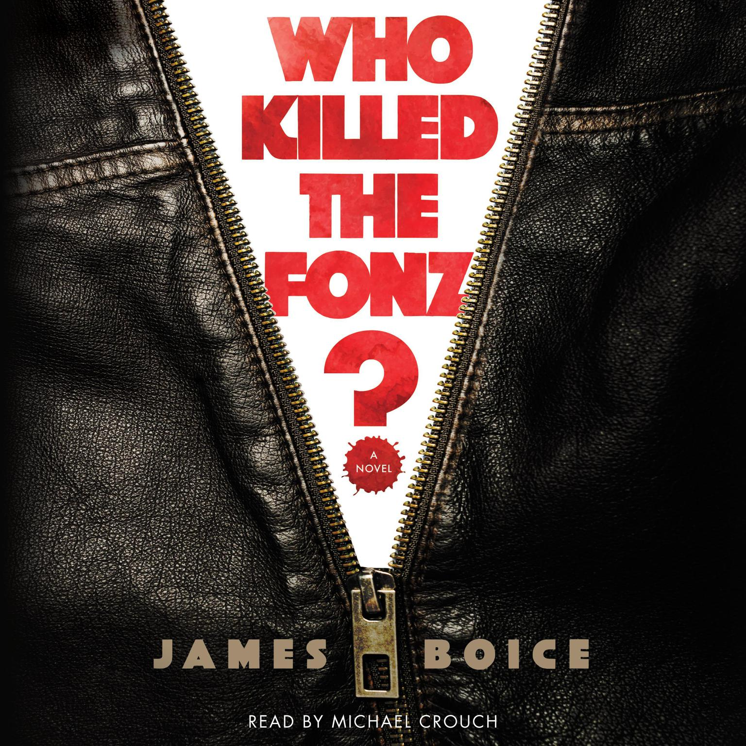 Printable Who Killed the Fonz? Audiobook Cover Art