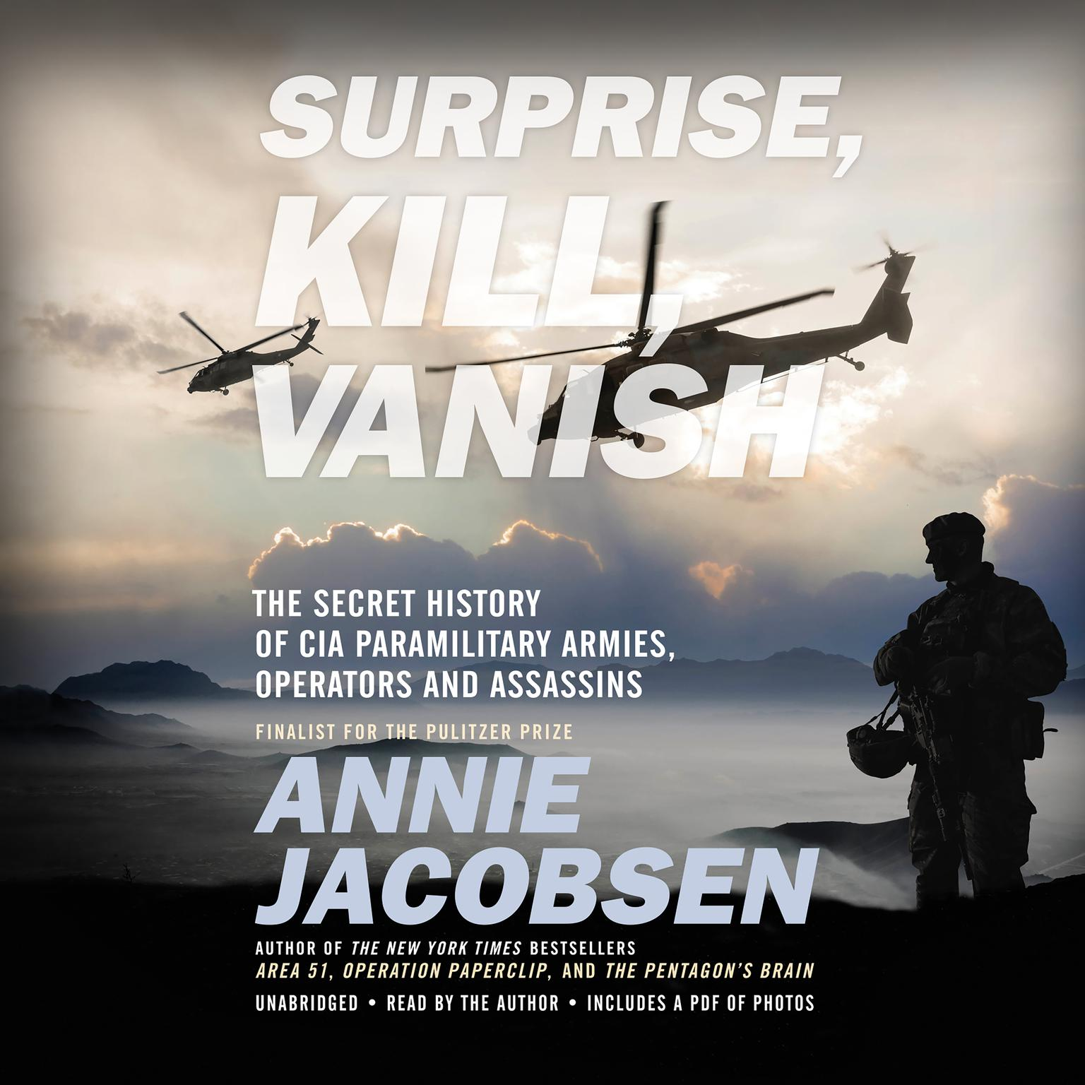 Printable Surprise, Kill, Vanish: The Secret History of CIA Paramilitary Armies, Operators, and Assassins Audiobook Cover Art