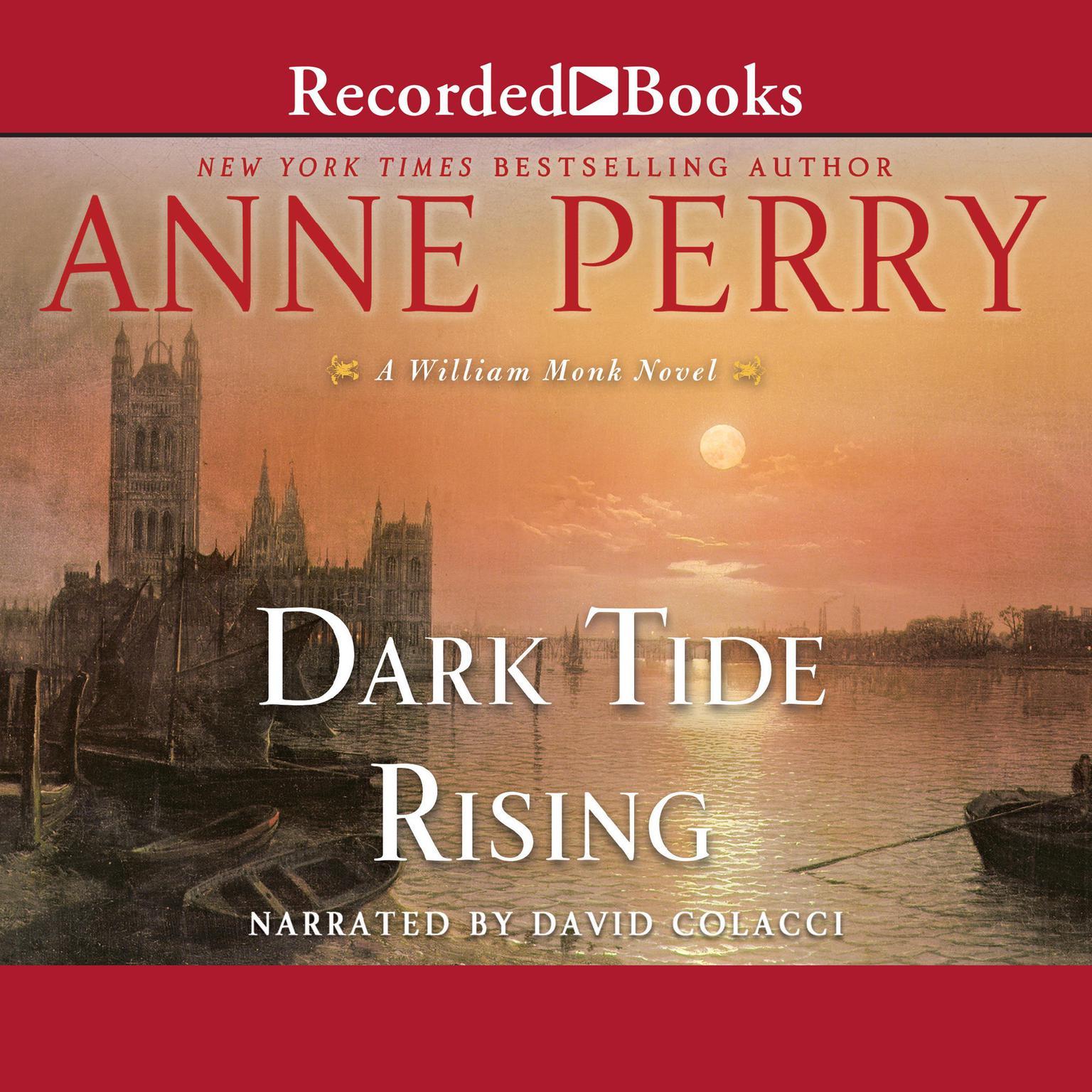Printable Dark Tide Rising: A William Monk Novel Audiobook Cover Art