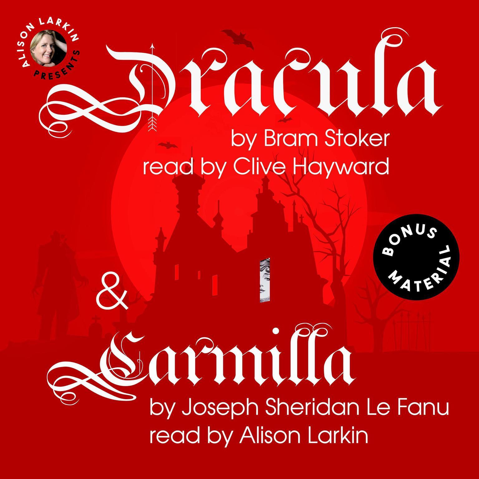 Printable Dracula & Carmilla Audiobook Cover Art
