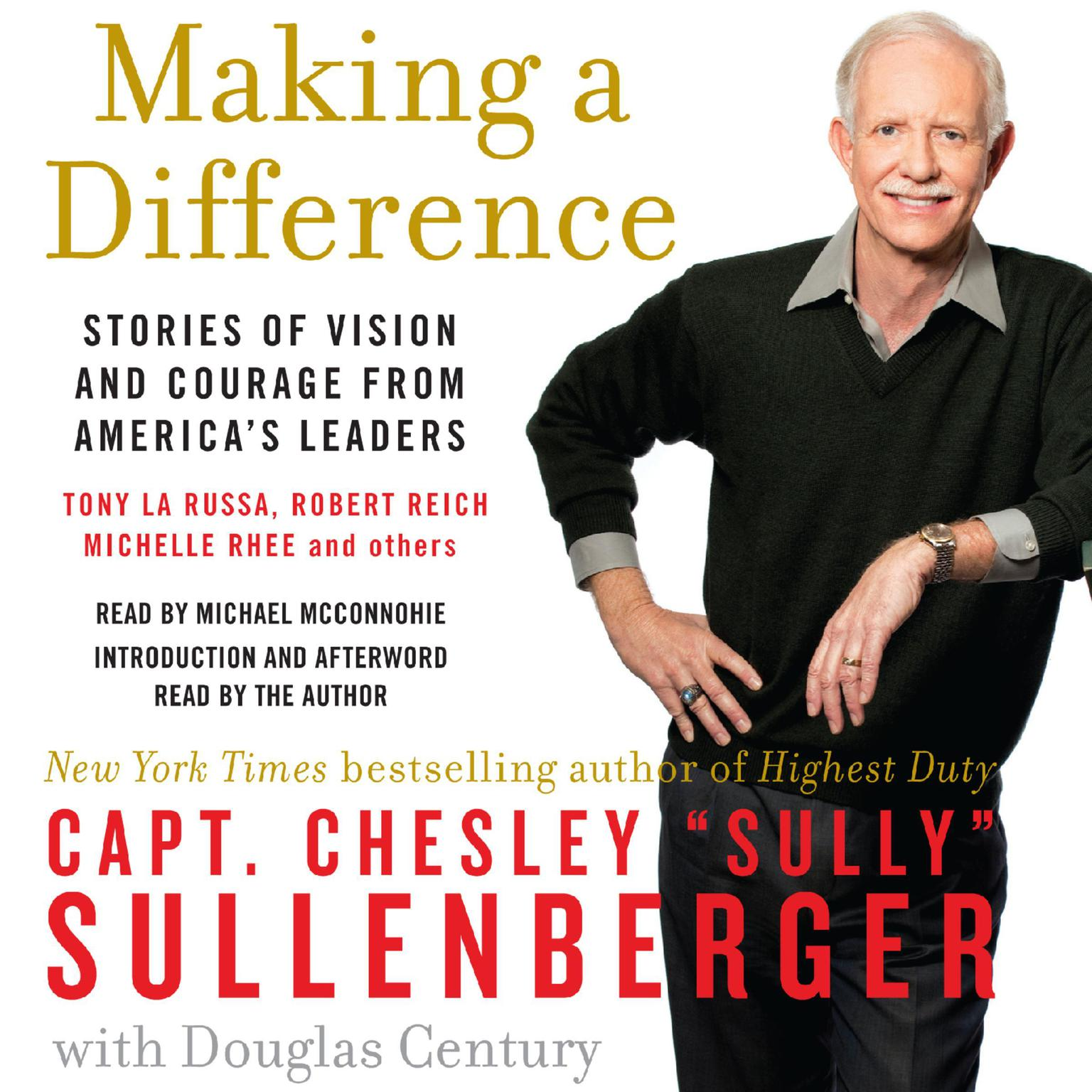 Printable Making a Difference: Stories of Vision and Courage from America's Leaders Audiobook Cover Art