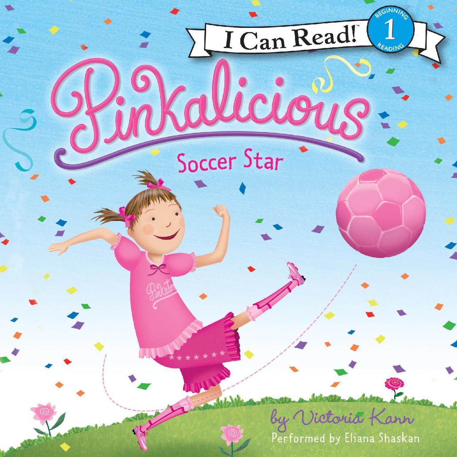 Printable Pinkalicious: Soccer Star Audiobook Cover Art