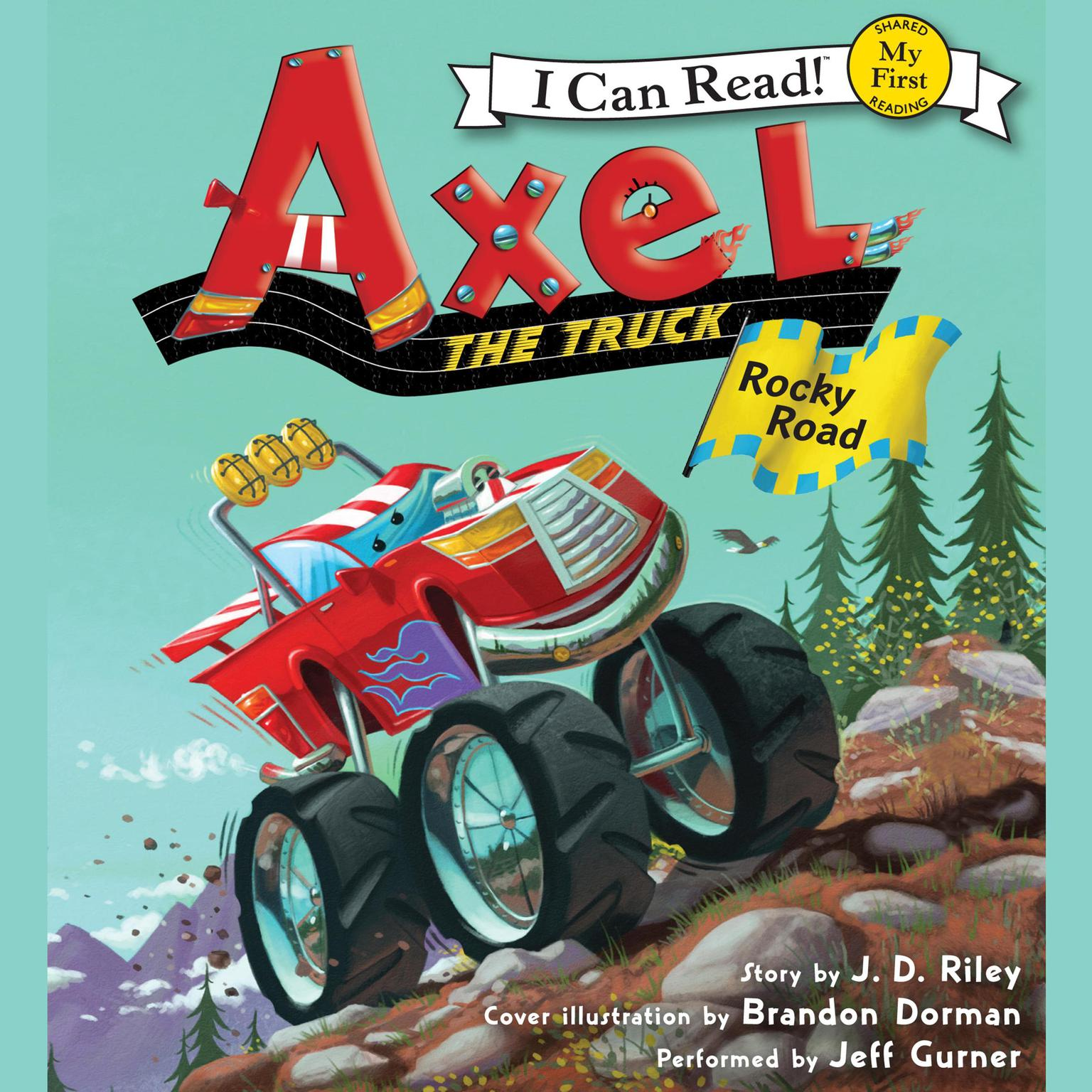 Printable Axel the Truck: Rocky Road Audiobook Cover Art