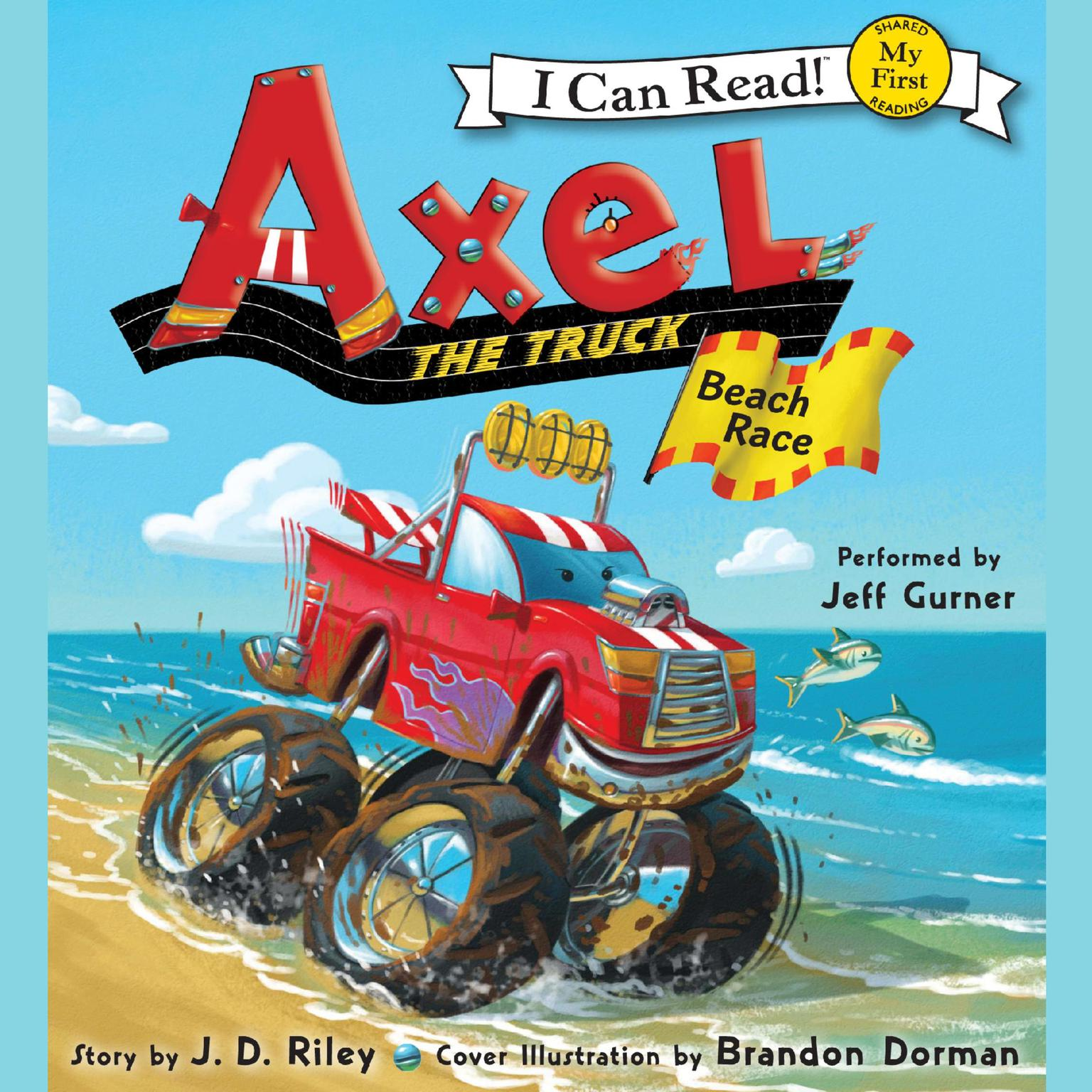 Printable Axel the Truck: Beach Race Audiobook Cover Art