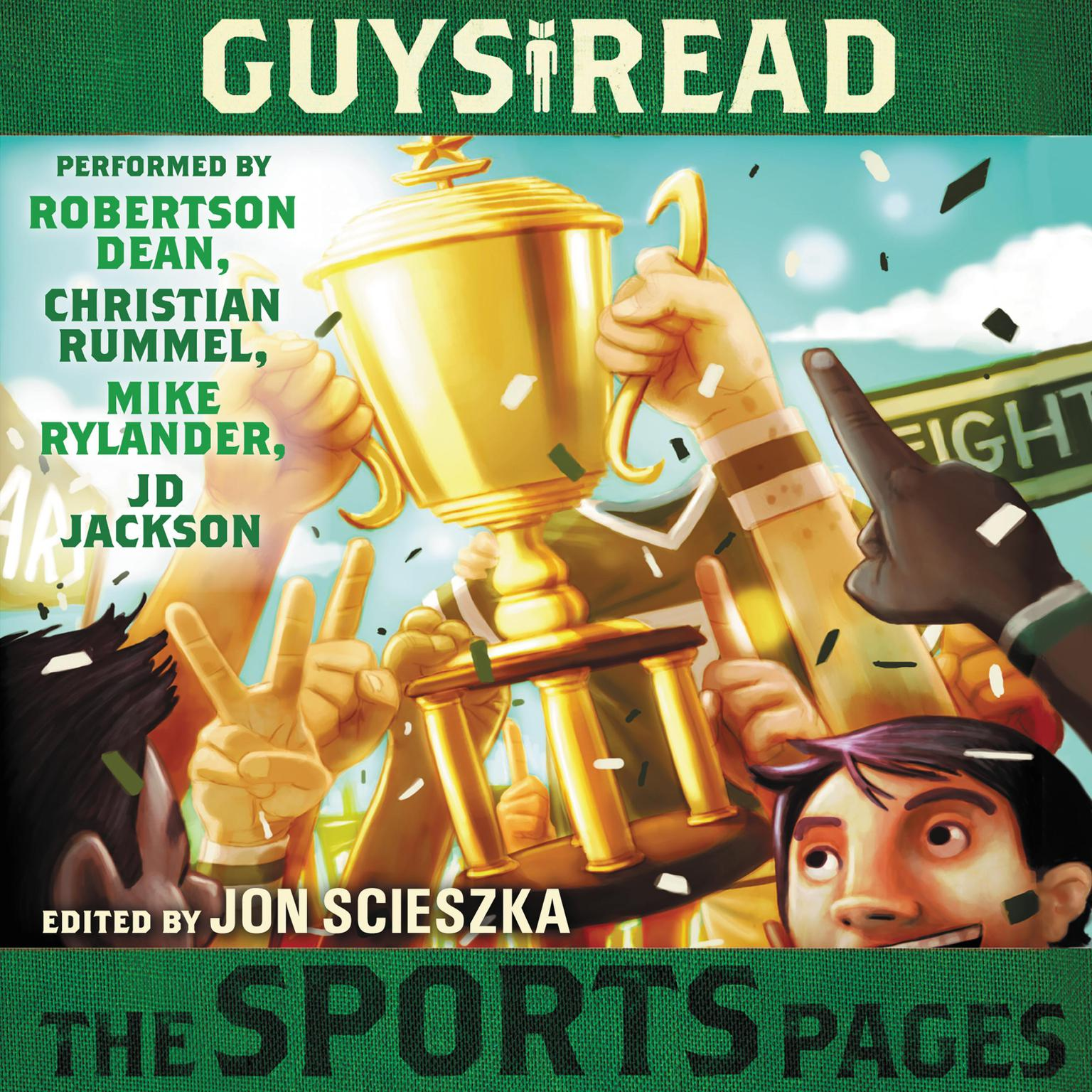 Printable Guys Read: The Sports Pages Audiobook Cover Art