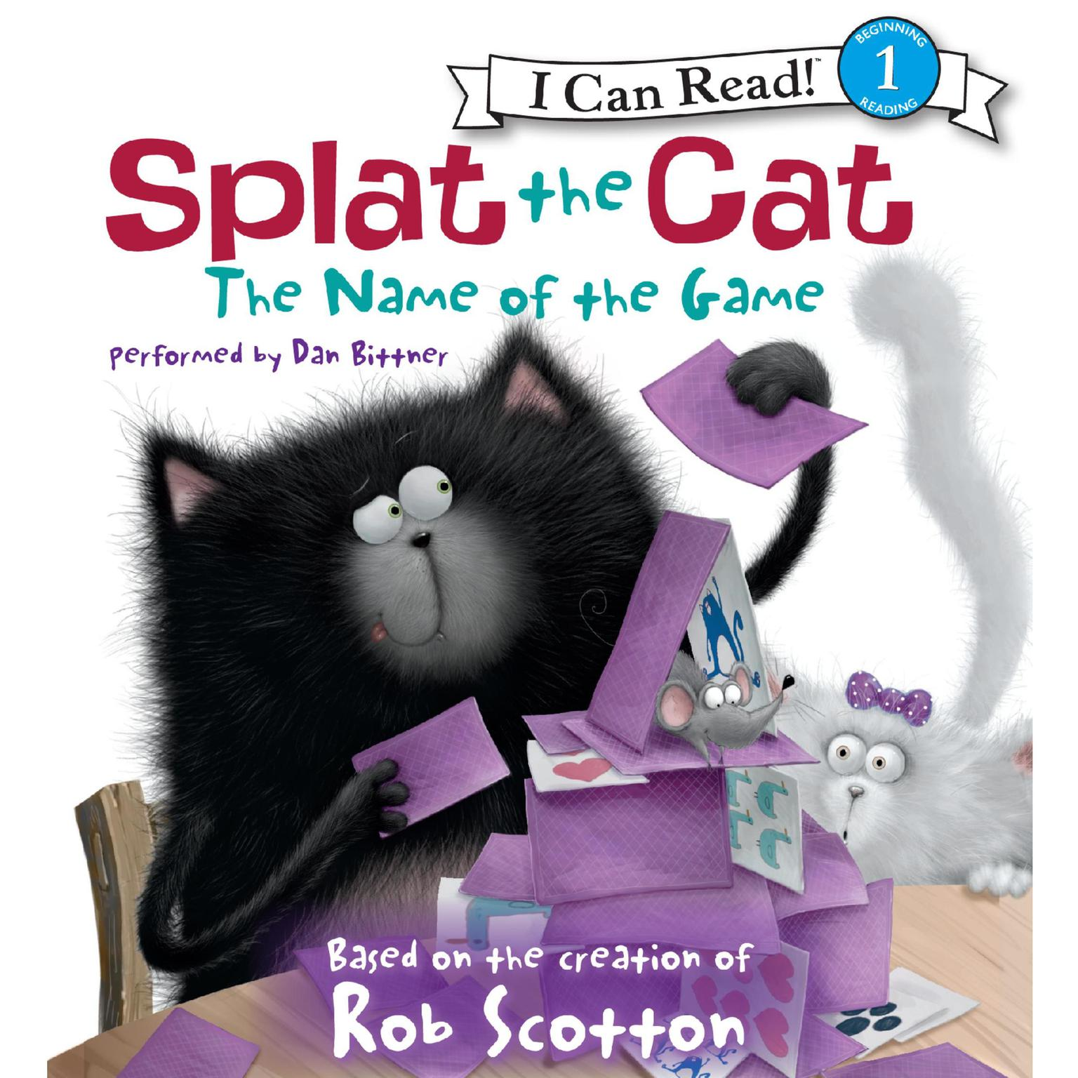 Printable Splat the Cat: The Name of the Game Audiobook Cover Art