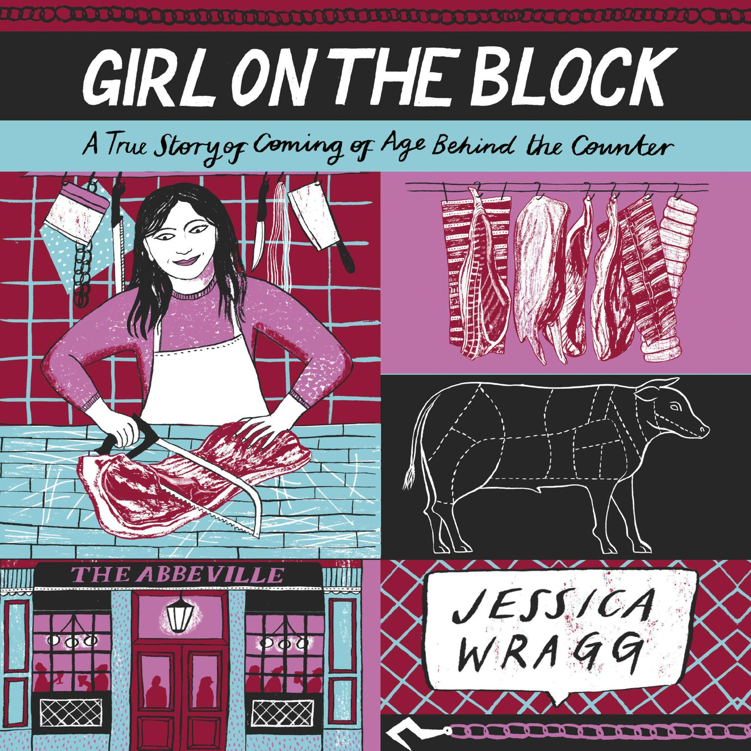 Printable Girl on the Block: A True Story of Coming of Age Behind the Counter Audiobook Cover Art