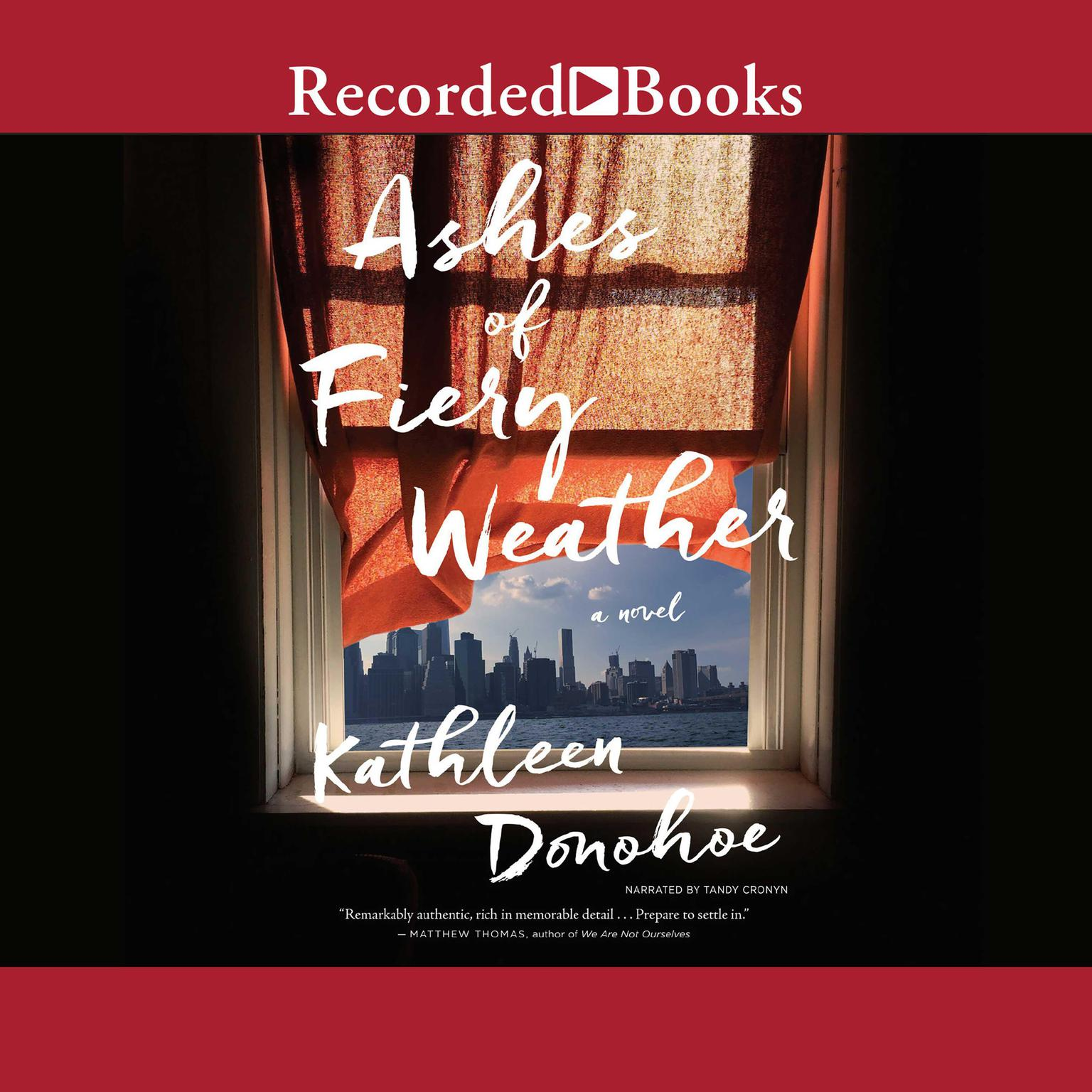 Printable Ashes of Fiery Weather Audiobook Cover Art