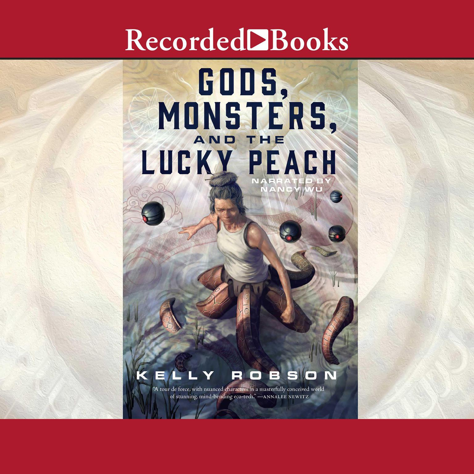 Printable Gods, Monsters, and the Lucky Peach Audiobook Cover Art