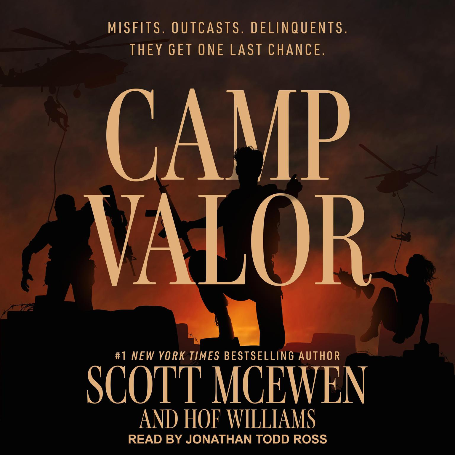 Printable Camp Valor Audiobook Cover Art