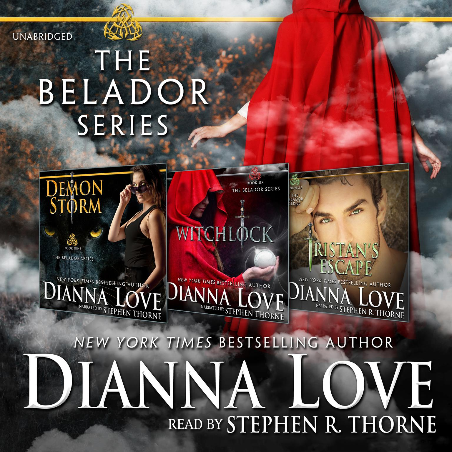 Printable The Belador Series Box Set: Demon Storm, Witchlock, and Tristan's Escape Audiobook Cover Art