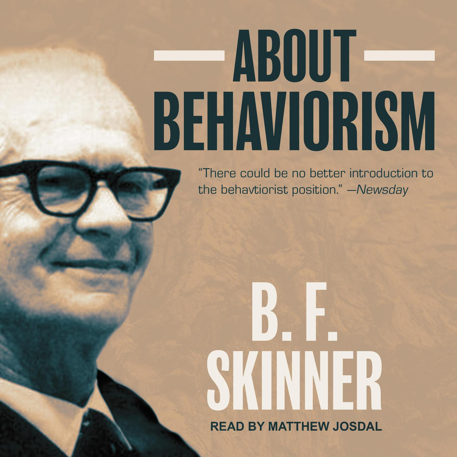 Printable About Behaviorism Audiobook Cover Art