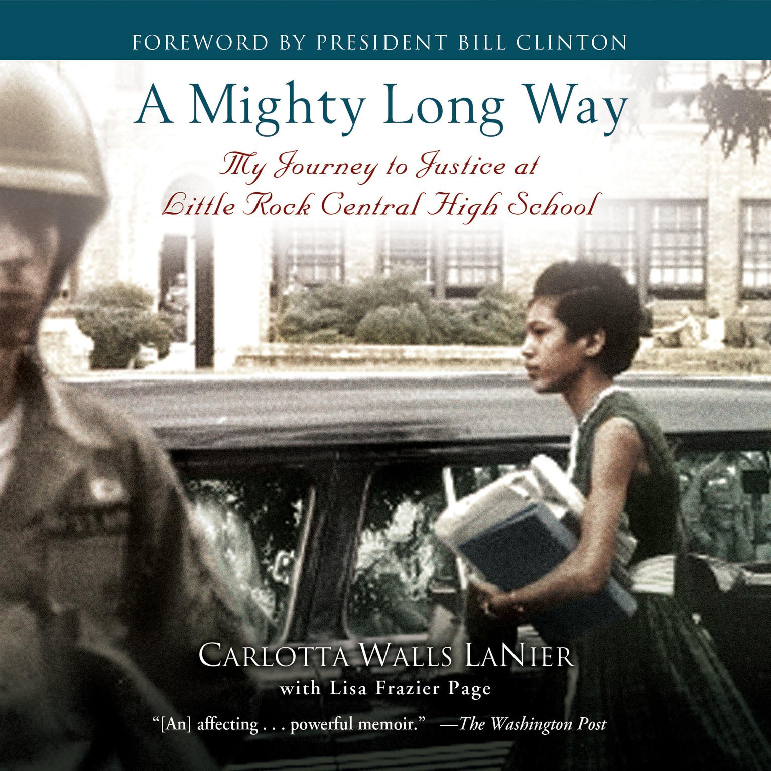 Printable A Mighty Long Way: My Journey to Justice at Little Rock Central High School Audiobook Cover Art