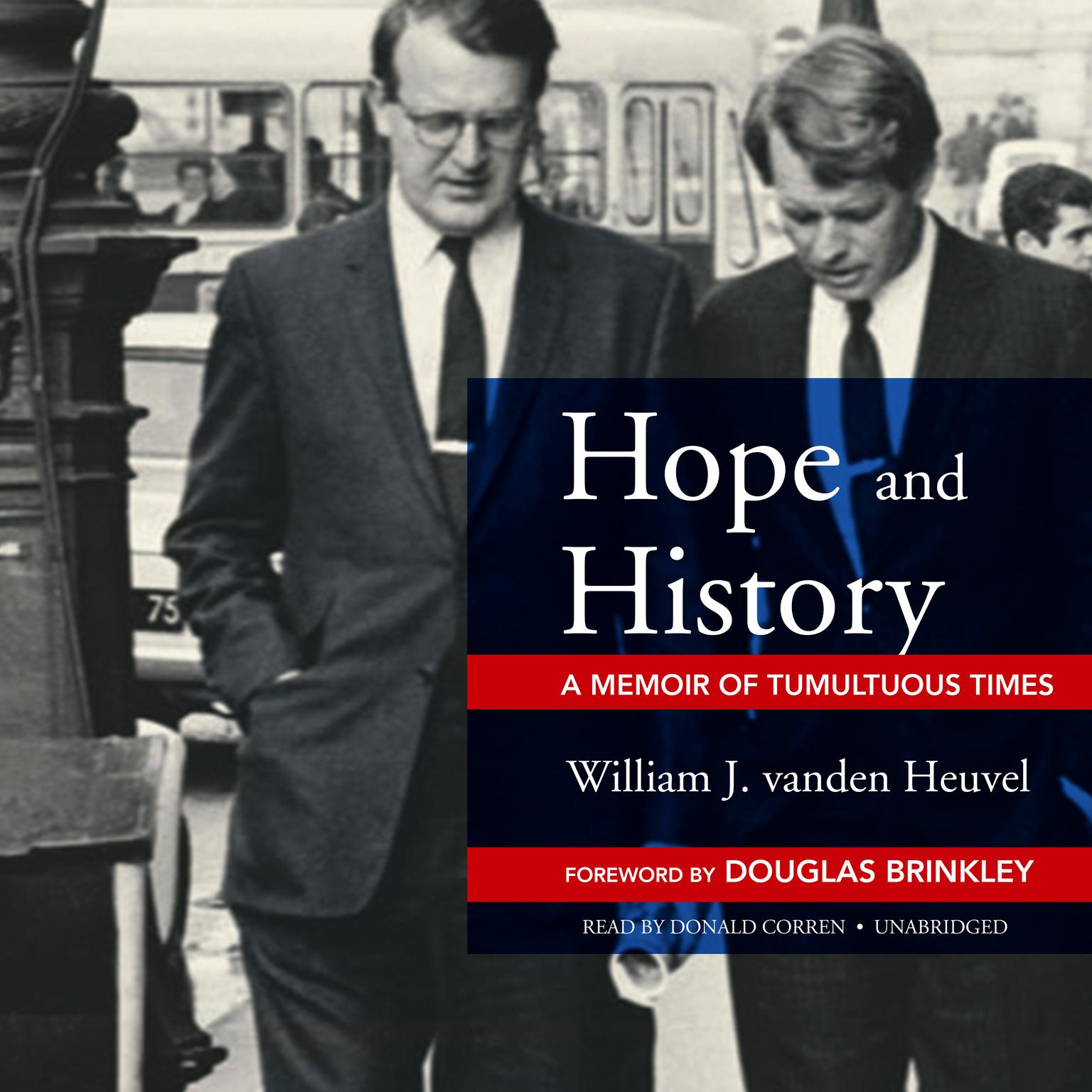 Printable Hope and History: A Memoir of Tumultuous Times Audiobook Cover Art