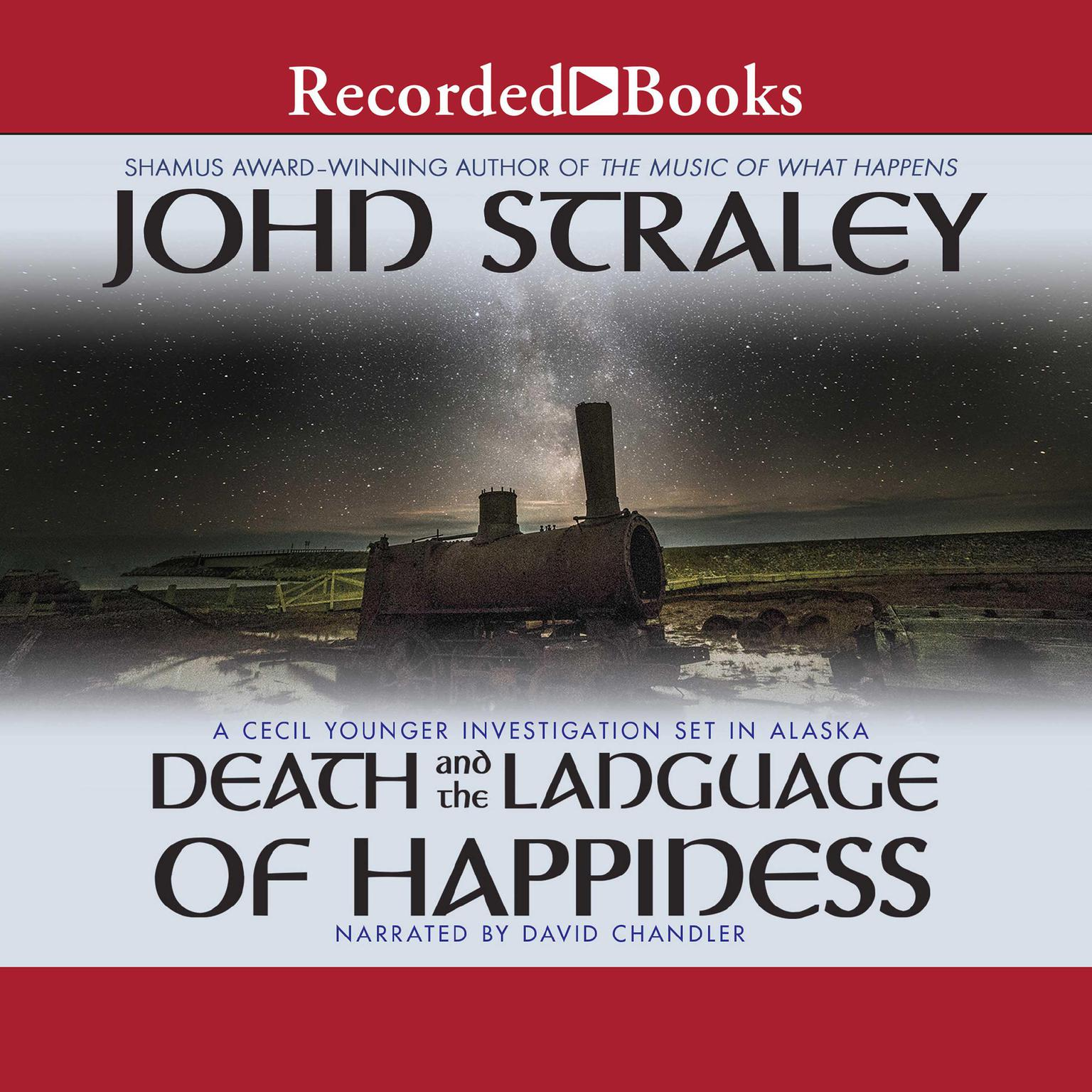 Printable Death and the Language of Happiness Audiobook Cover Art