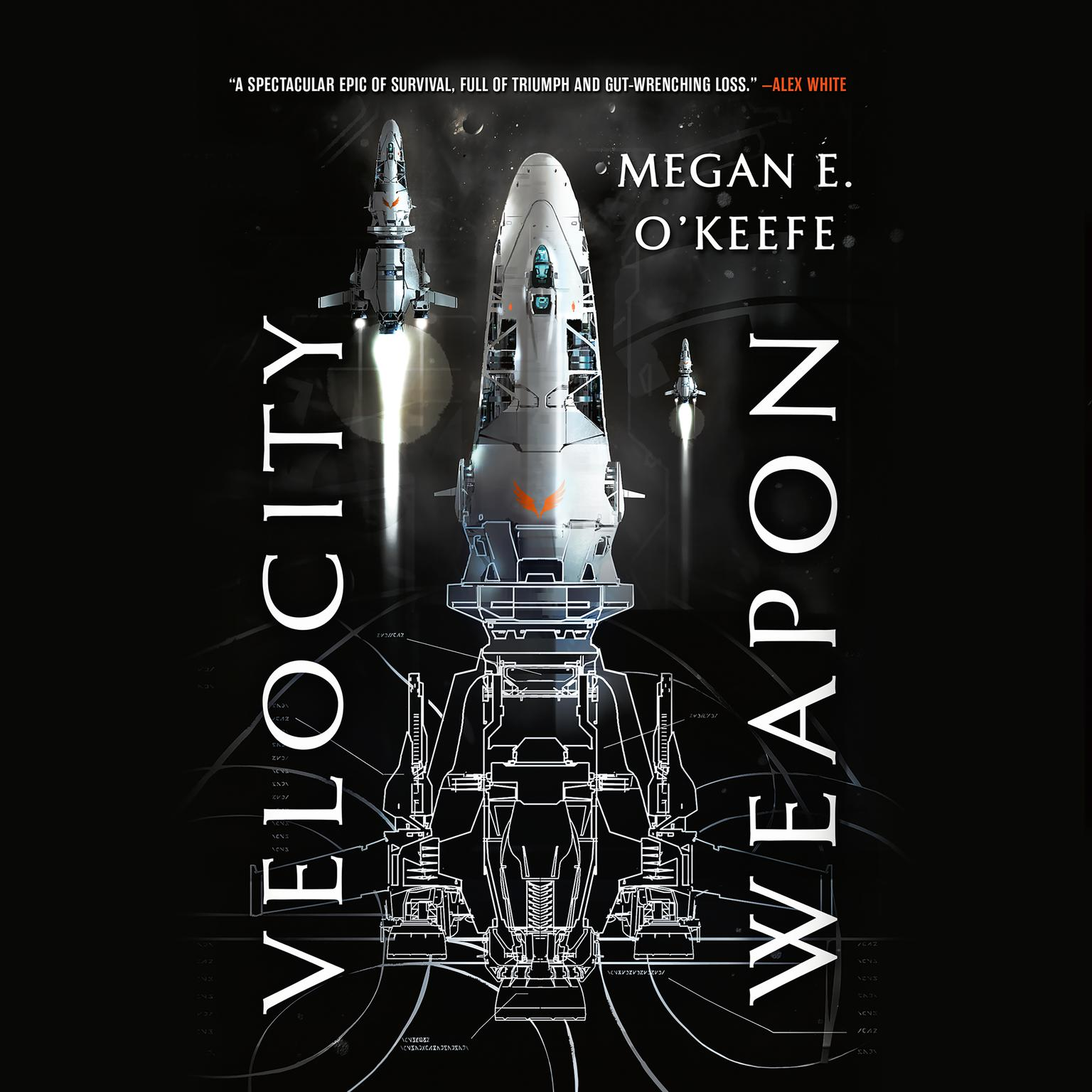 Printable Velocity Weapon Audiobook Cover Art