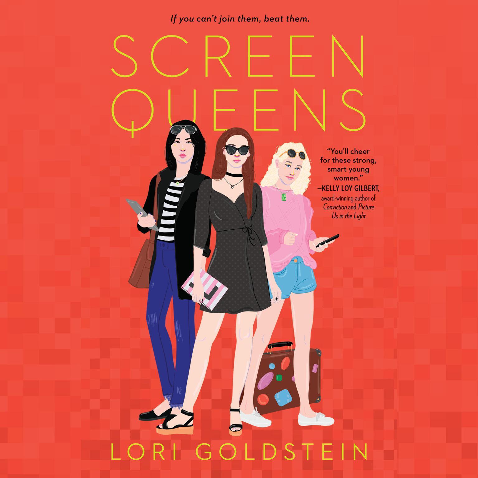 Printable Screen Queens Audiobook Cover Art