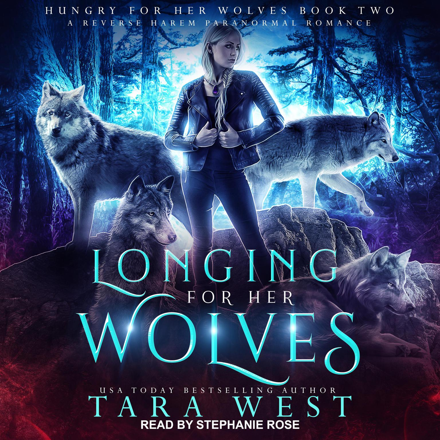 Printable Longing for Her Wolves: A Reverse Harem Paranormal Romance Audiobook Cover Art