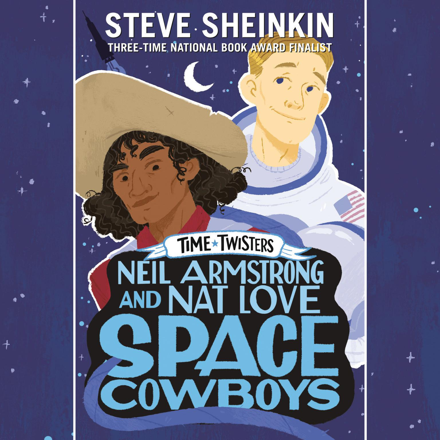 Printable Neil Armstrong and Nat Love, Space Cowboys Audiobook Cover Art