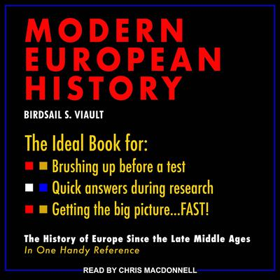 Schaum's Outline of Modern European History Audiobook, by Birdsall S. Viault