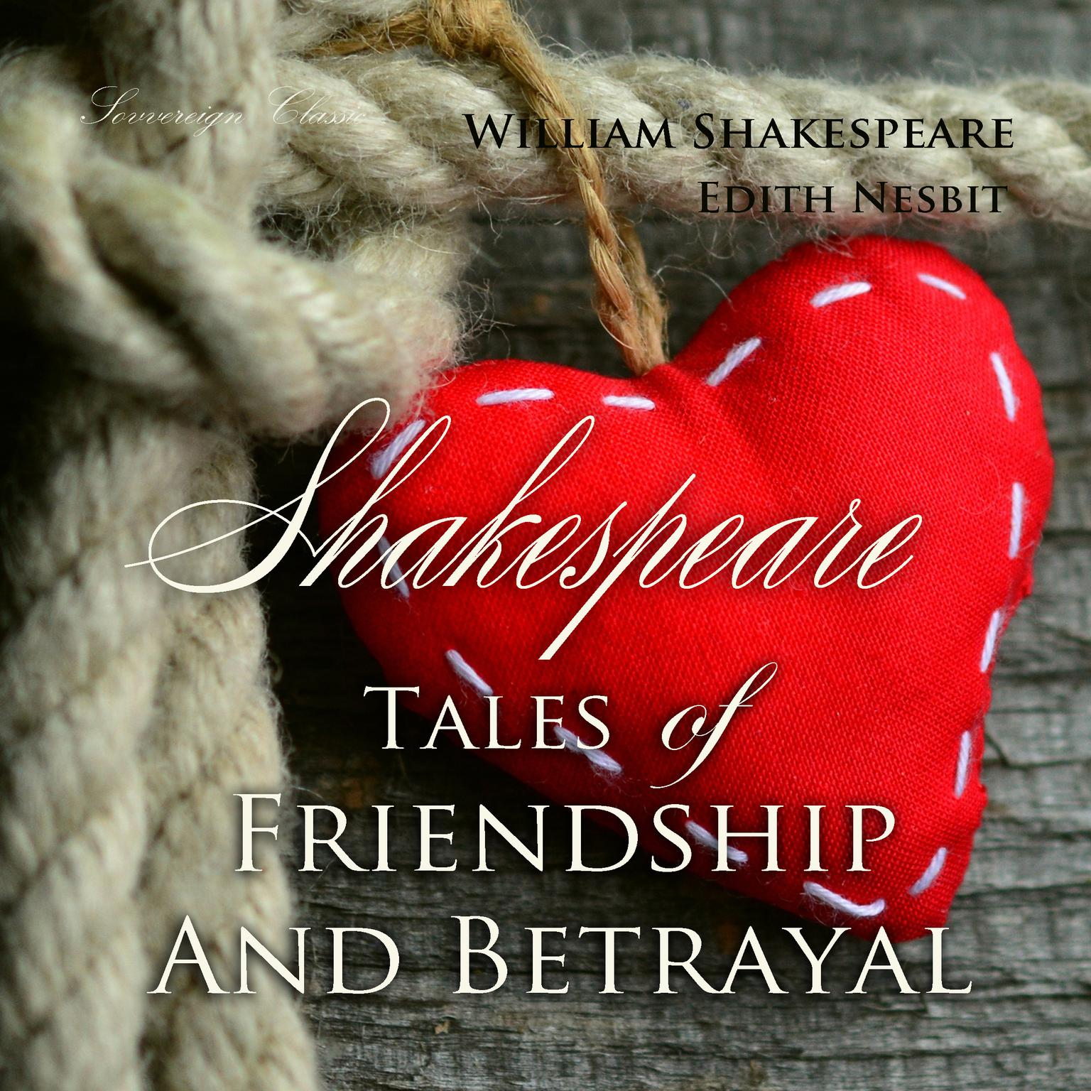 Printable Shakespeare Tales of Friendship and Betrayal Audiobook Cover Art