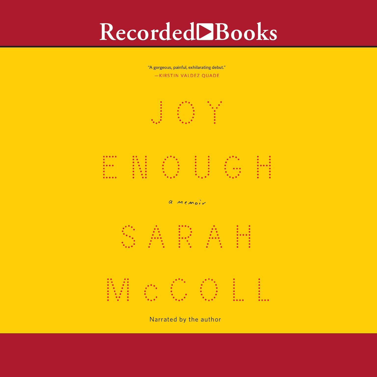 Printable Joy Enough: A Memoir Audiobook Cover Art