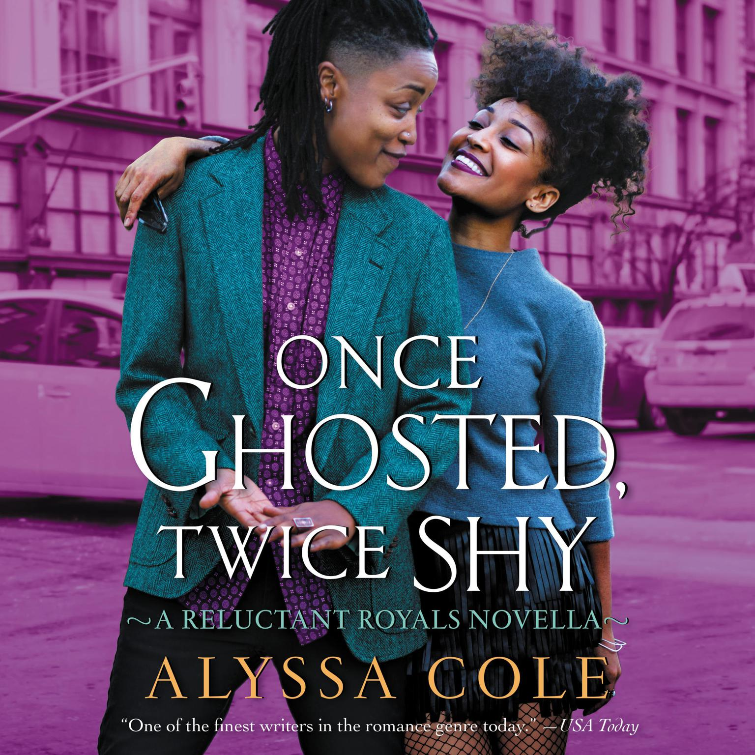 Printable Once Ghosted, Twice Shy: A Reluctant Royals Novella Audiobook Cover Art