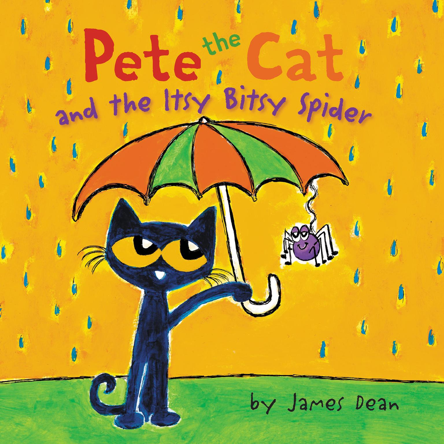 Printable Pete the Cat and the Itsy Bitsy Spider Audiobook Cover Art