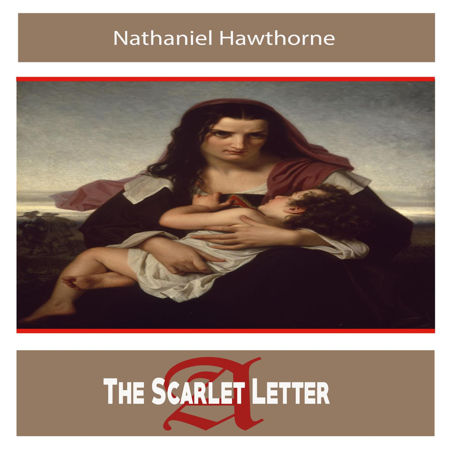 Printable The Scarlet Letter by Nathaniel Hawthorne Audiobook Cover Art