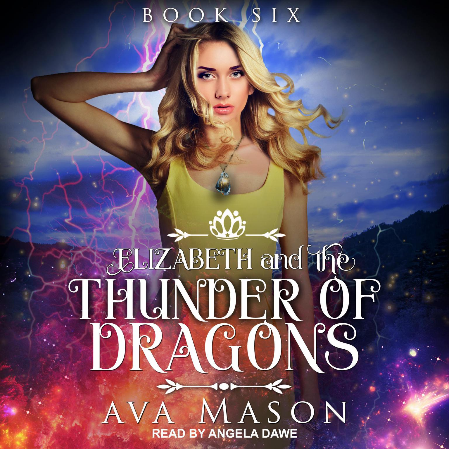 Printable Elizabeth and the Thunder of Dragons: A Reverse Harem Paranormal Romance Audiobook Cover Art