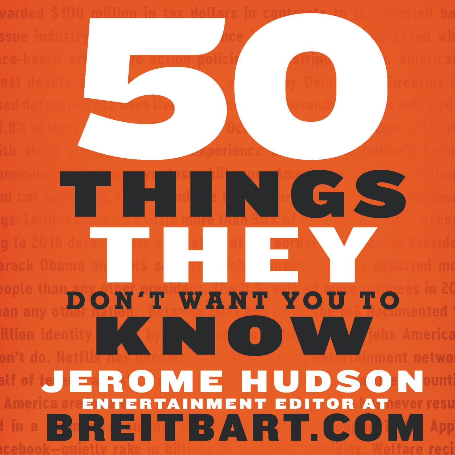 Printable 50 Things They Don't Want You to Know Audiobook Cover Art