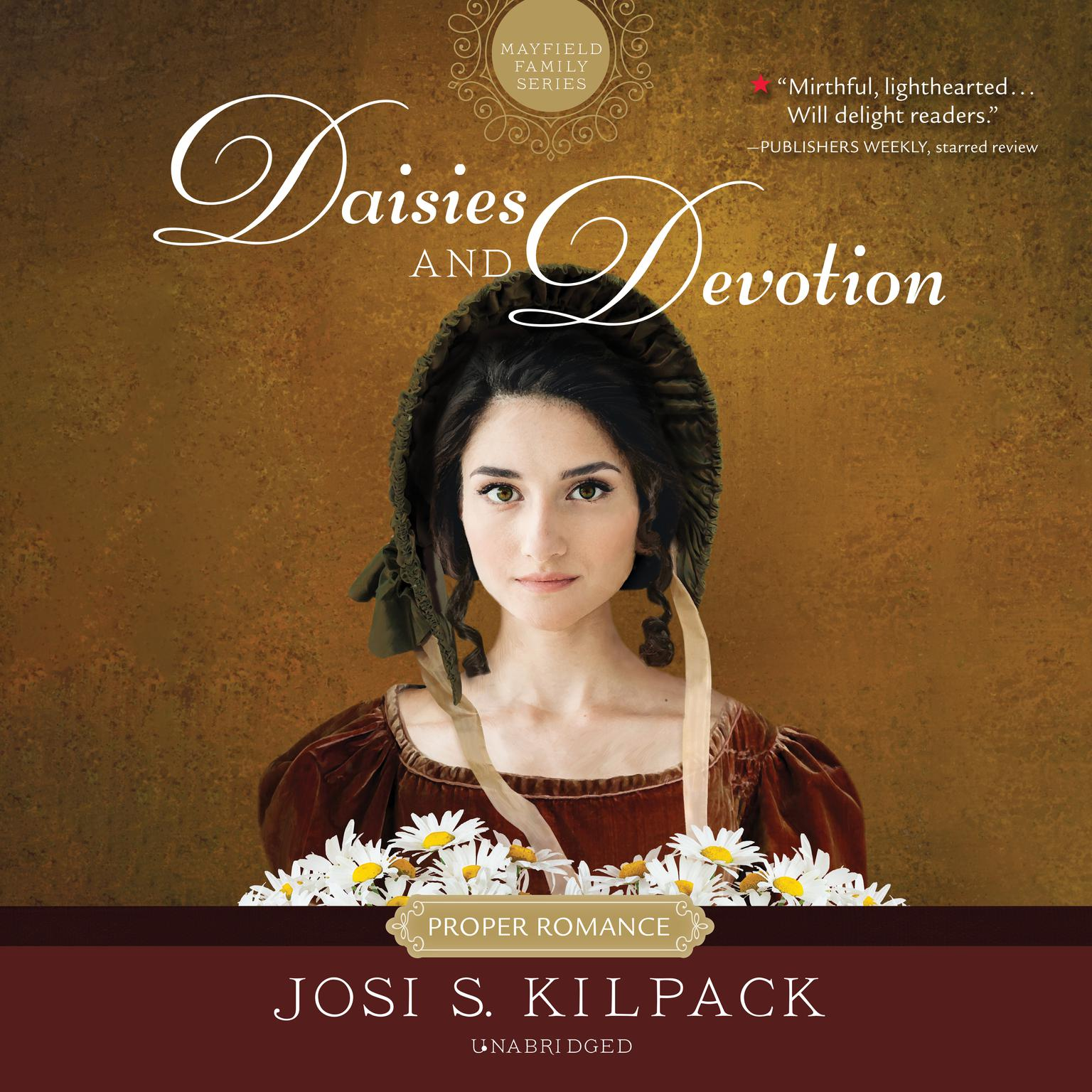 Printable Daisies and Devotion Audiobook Cover Art