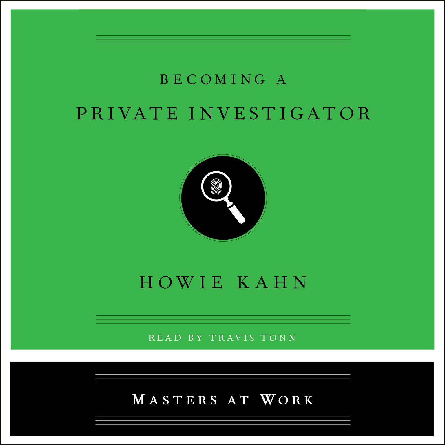 Printable Becoming a Private Investigator Audiobook Cover Art