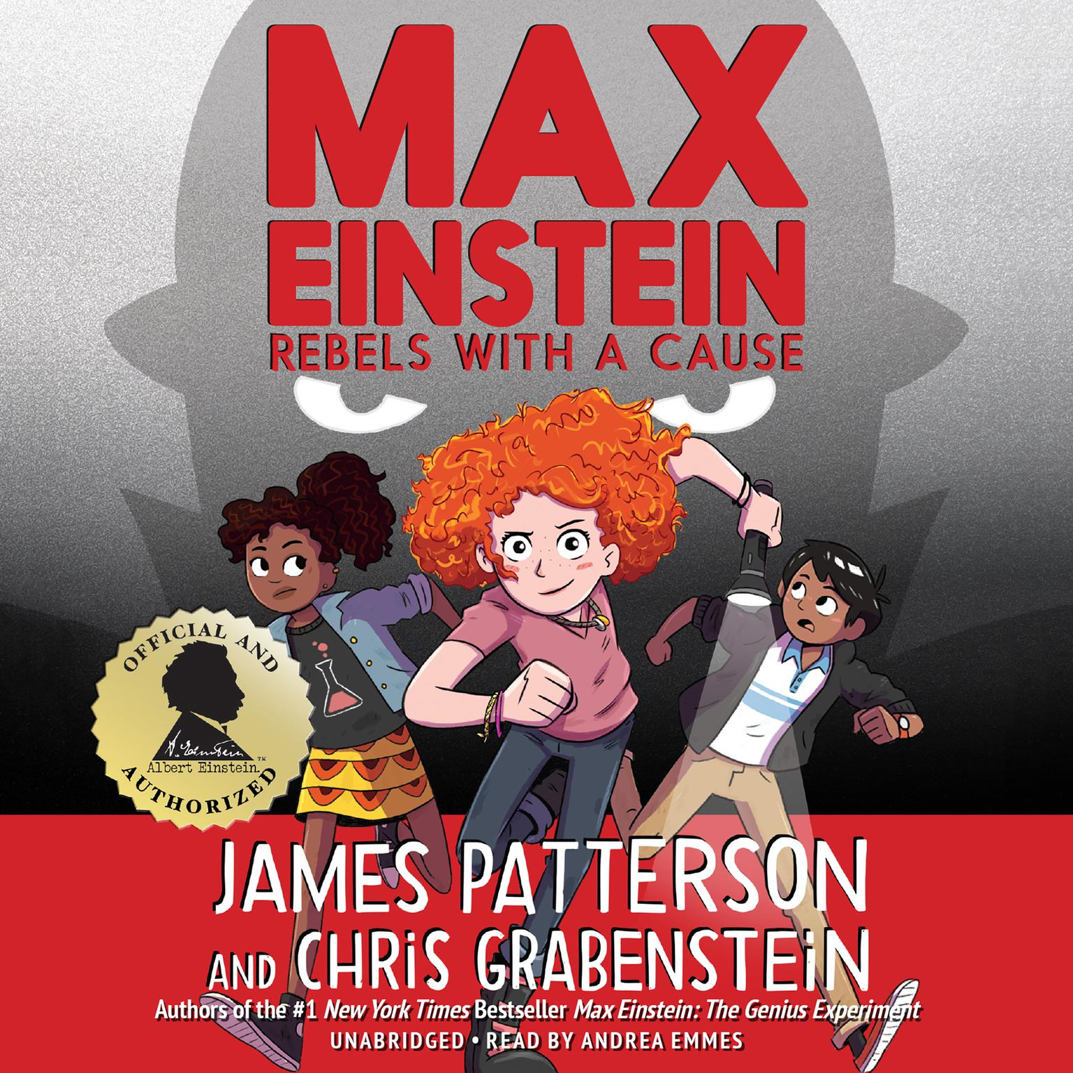 Printable Max Einstein: Rebels with a Cause Audiobook Cover Art