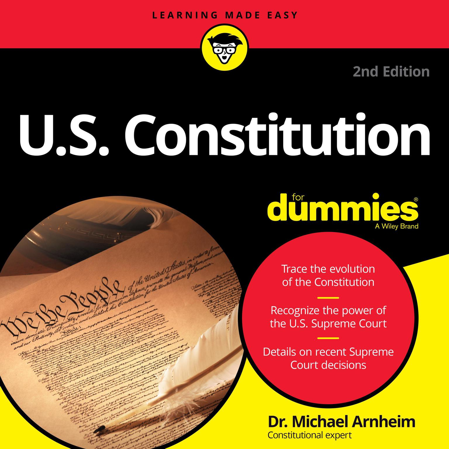 Printable U.S. Constitution for Dummies: 2nd Edition Audiobook Cover Art