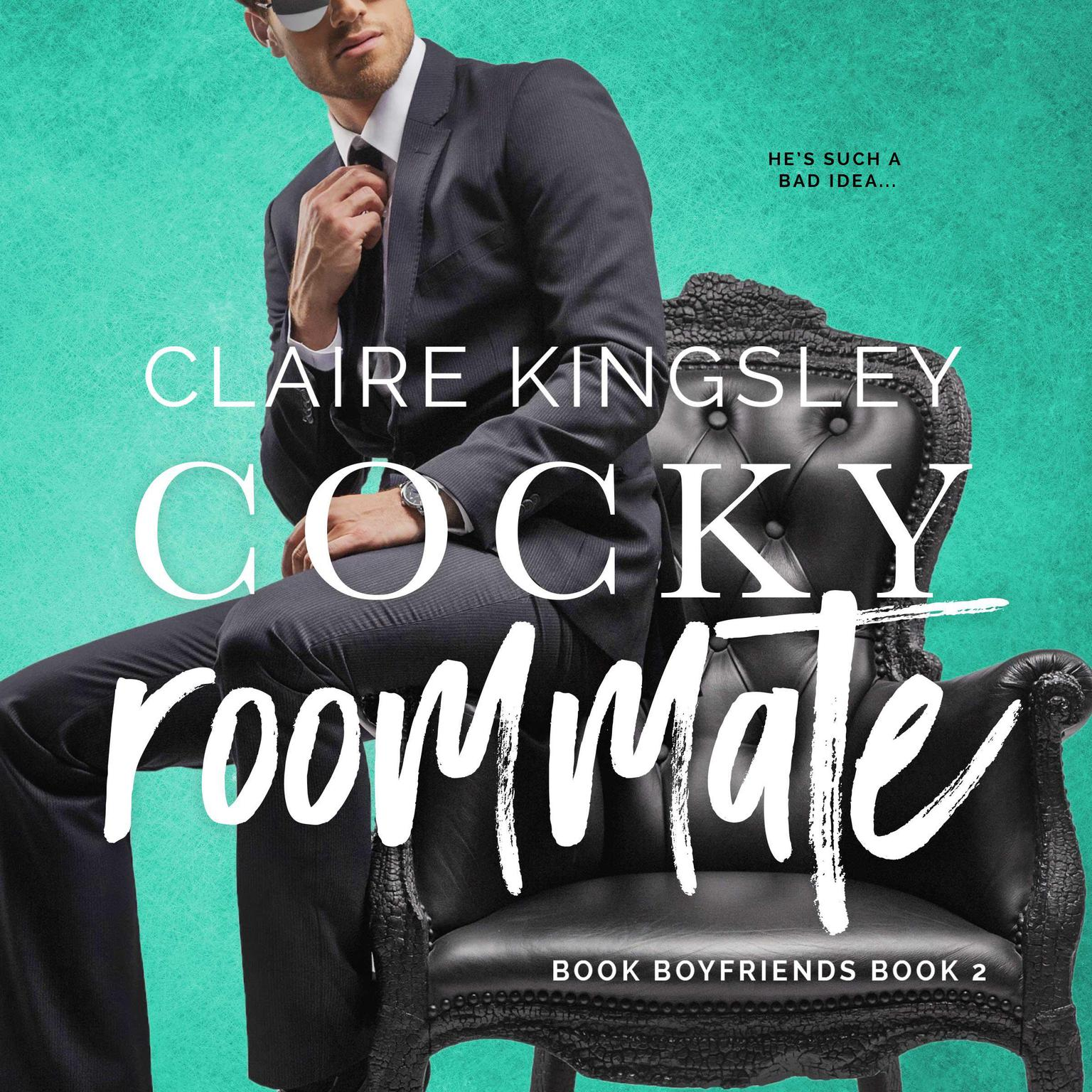 Printable Cocky Roommate (Book Boyfriends 2) Audiobook Cover Art