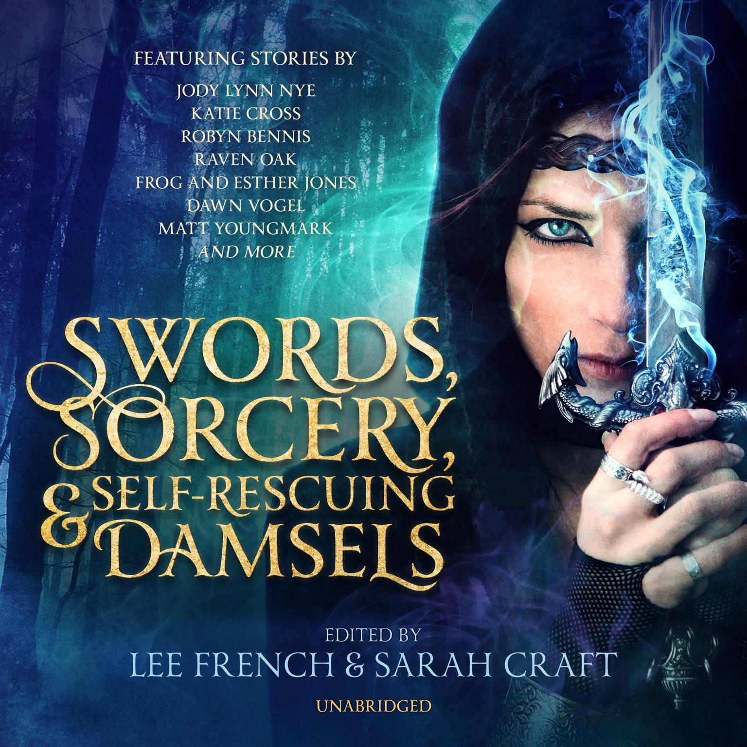 Printable Swords, Sorcery, and Self-Rescuing Damsels Audiobook Cover Art