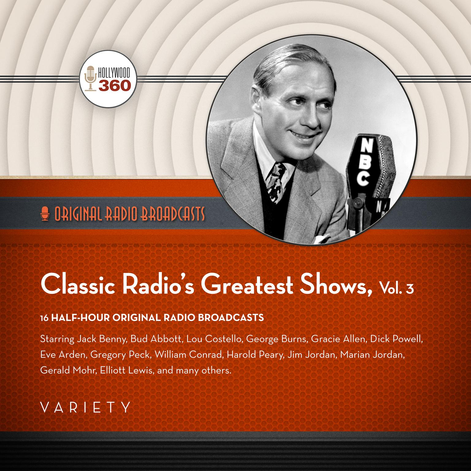 Printable Classic Radio's Greatest Shows, Vol. 3 Audiobook Cover Art