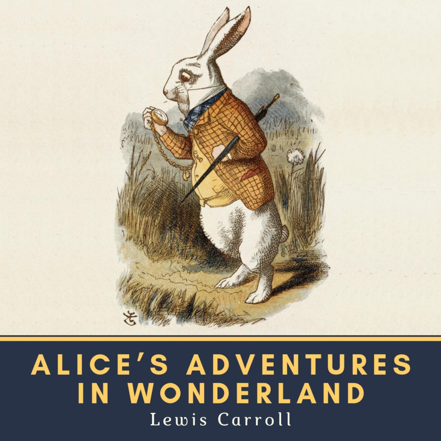 Printable Alice's Adventures in Wonderland Audiobook Cover Art