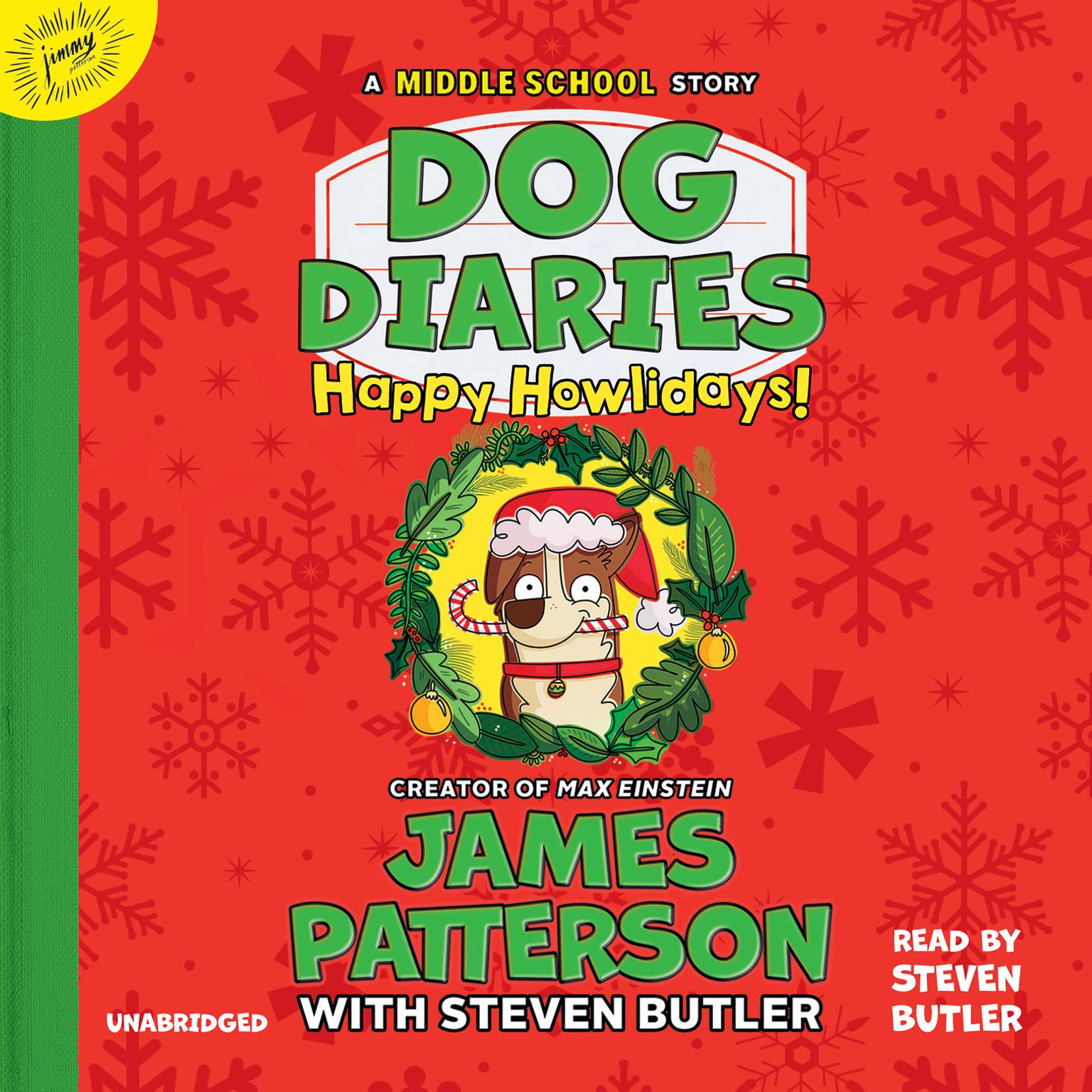 Printable Dog Diaries: Happy Howlidays: A Middle School Story Audiobook Cover Art