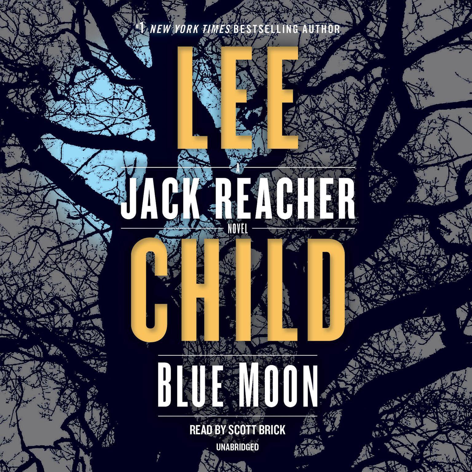 Printable Blue Moon: A Jack Reacher Novel Audiobook Cover Art