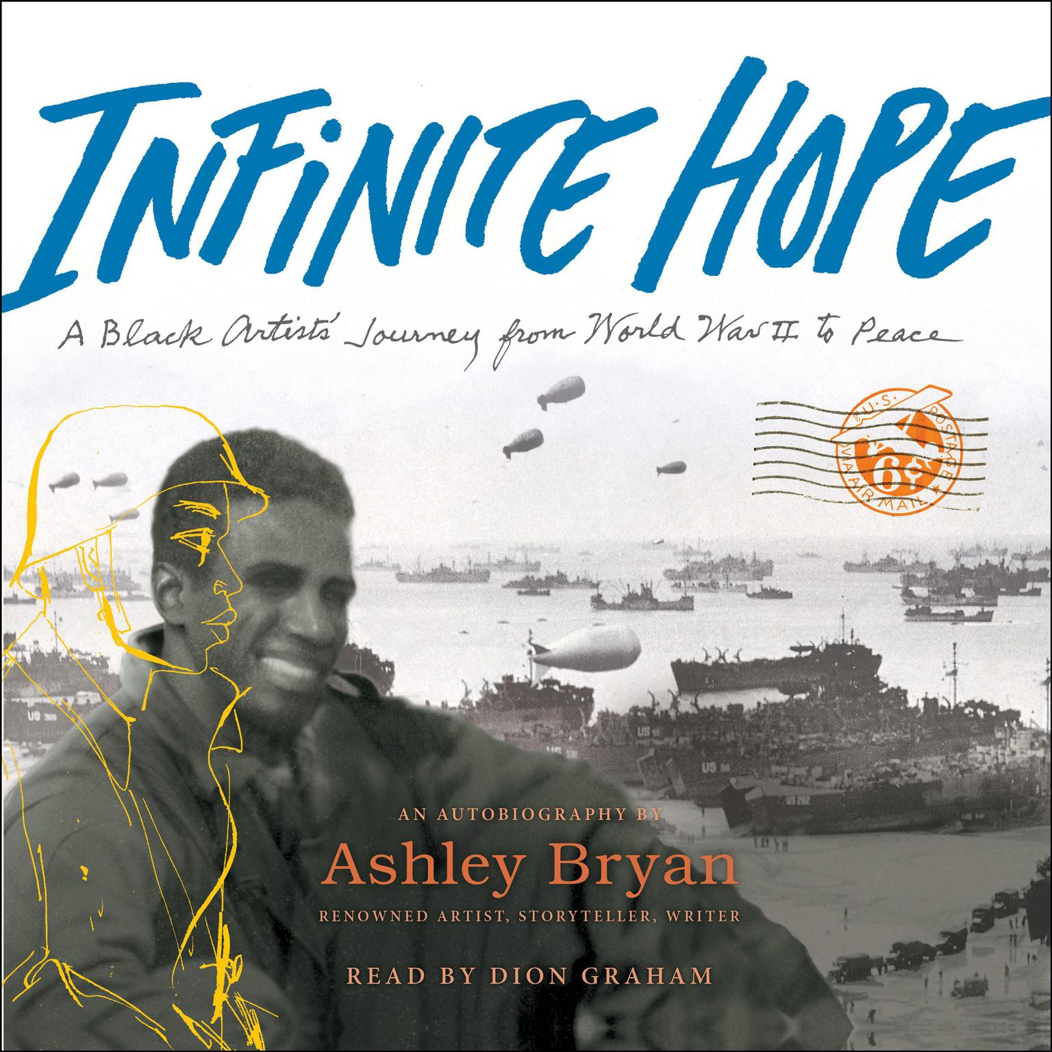 Printable Infinite Hope: A Black Artist's Journey from World War II to Peace Audiobook Cover Art