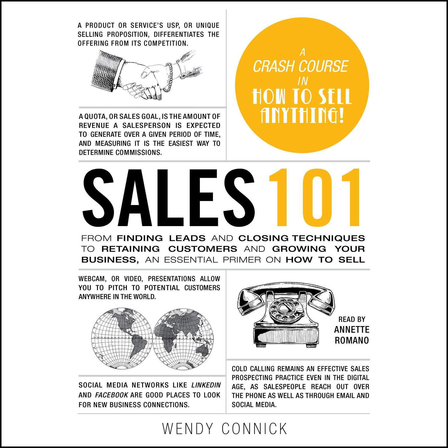 Printable Sales 101: From Finding Leads and Closing Techniques to Retaining Customers and Growing Your Business, an Essential Primer on How to Sell Audiobook Cover Art