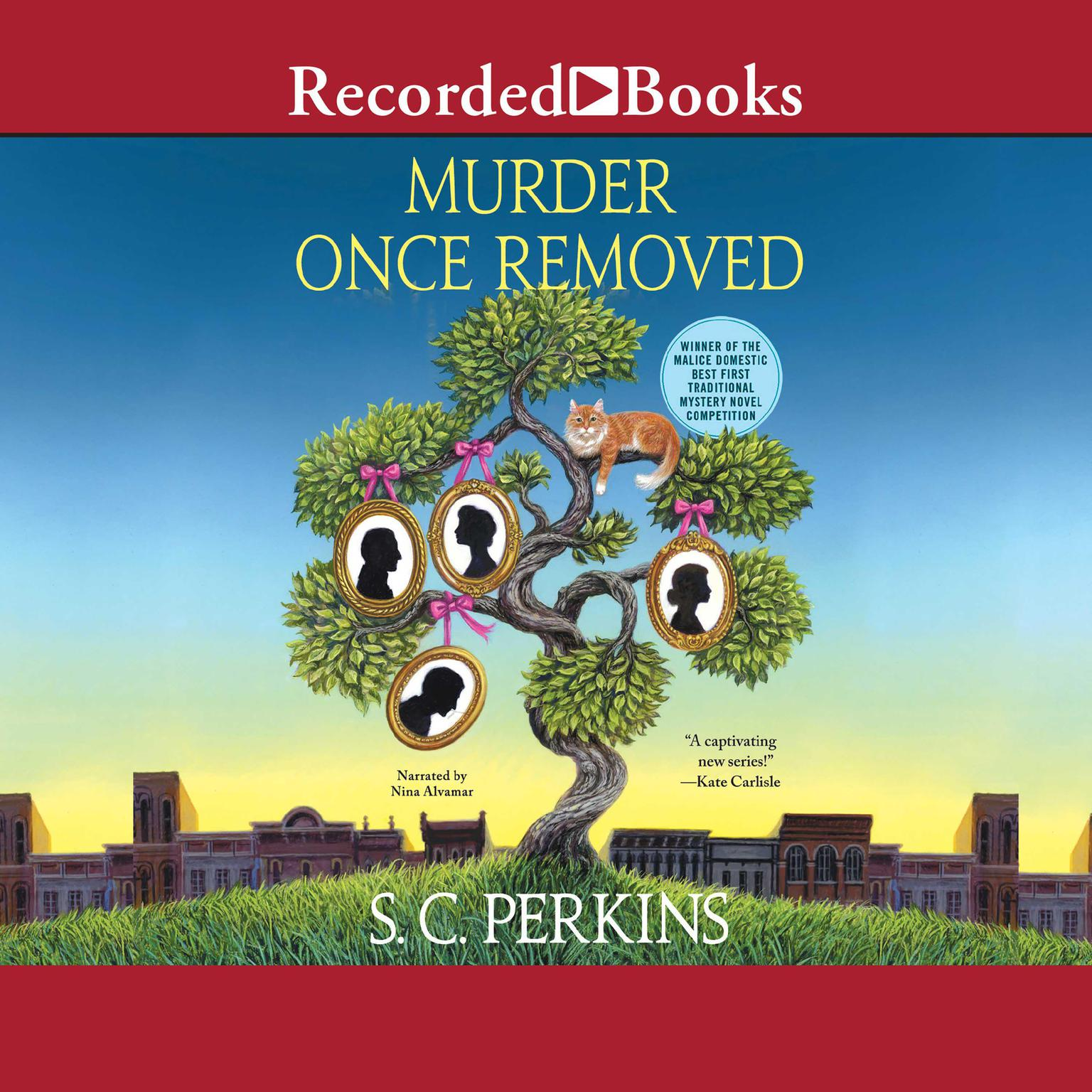 Printable Murder Once Removed Audiobook Cover Art