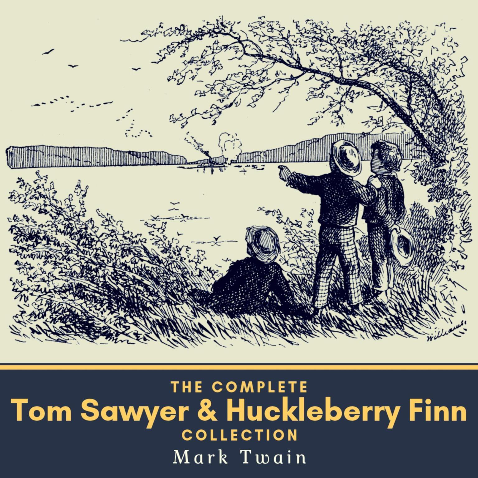 Printable The Complete Tom Sawyer & Huckleberry Finn Collection Audiobook Cover Art