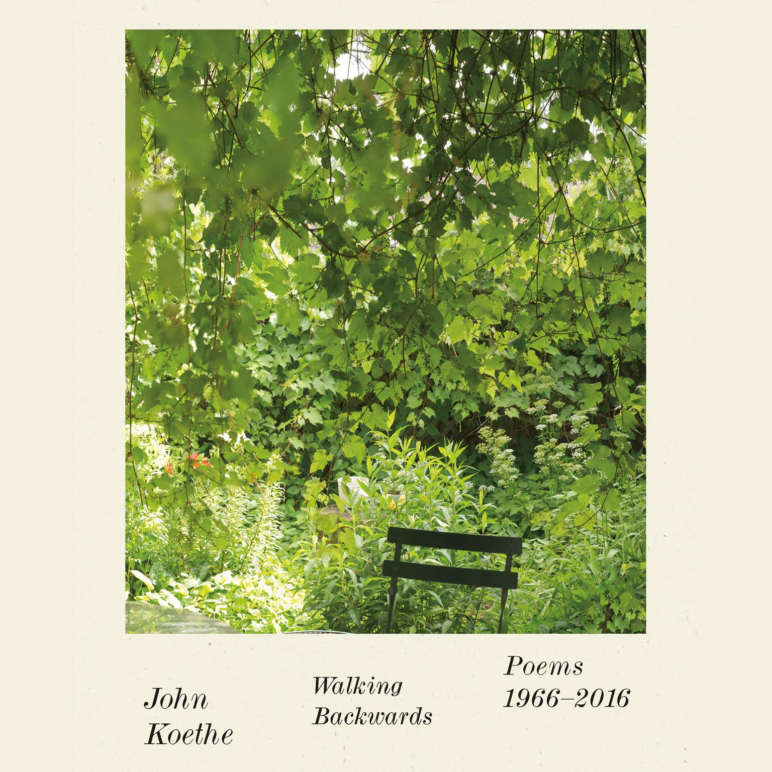 Printable Walking Backwards: Poems 1966-2016 Audiobook Cover Art