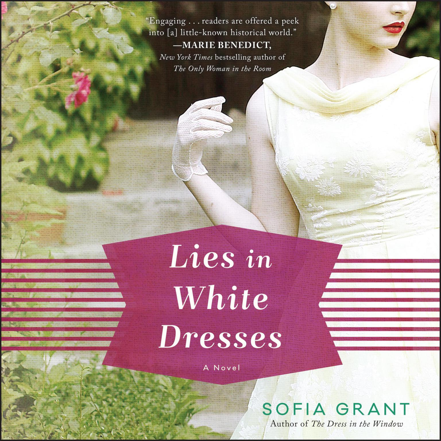 Printable Lies in White Dresses: A Novel Audiobook Cover Art