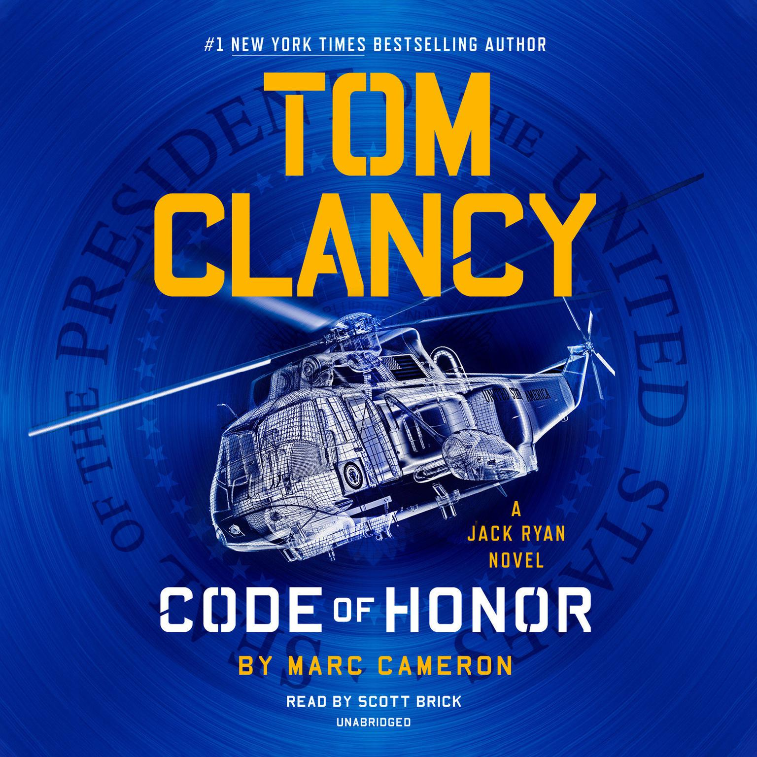 Printable Tom Clancy Code of Honor Audiobook Cover Art