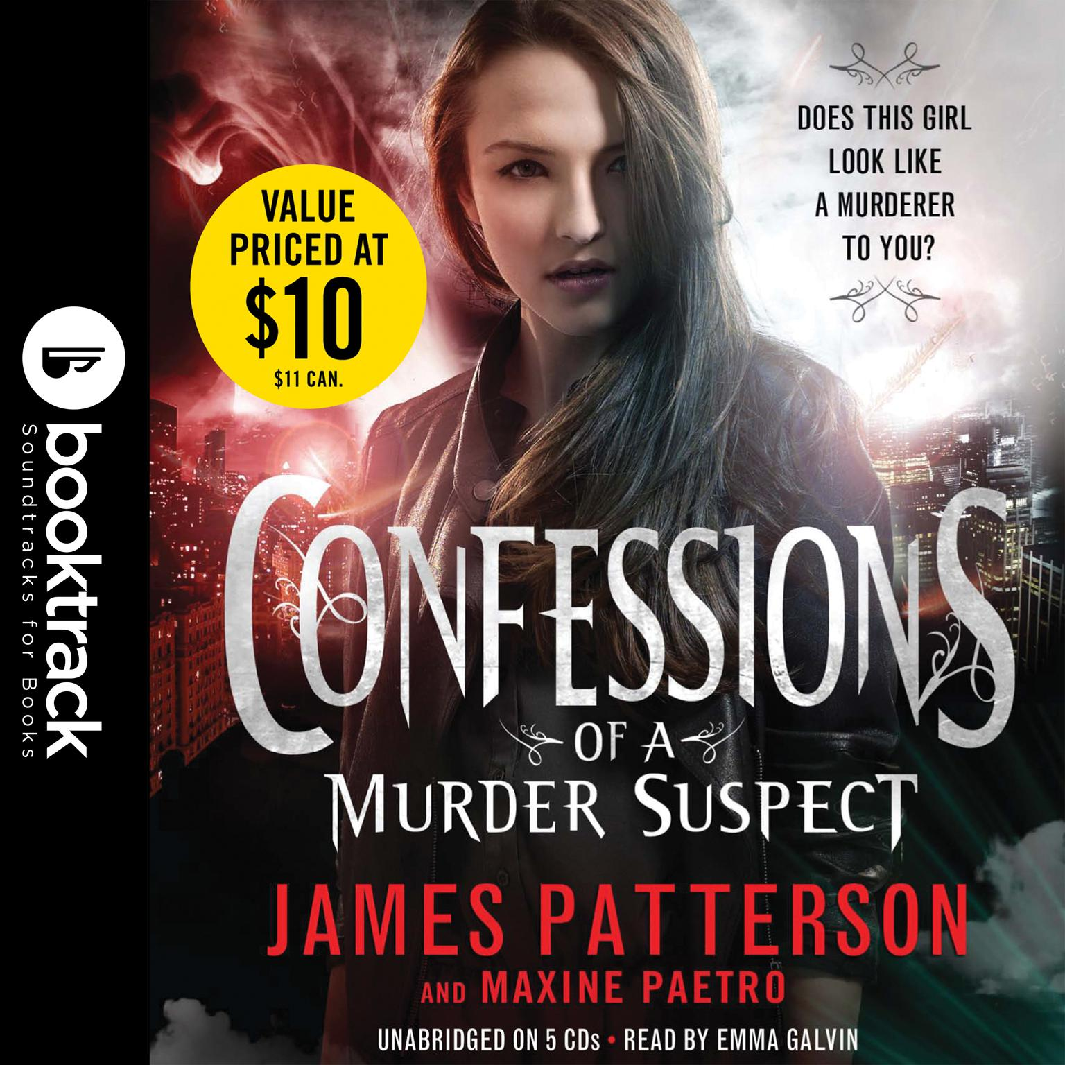 Printable Confessions of a Murder Suspect: Booktrack Edition Audiobook Cover Art